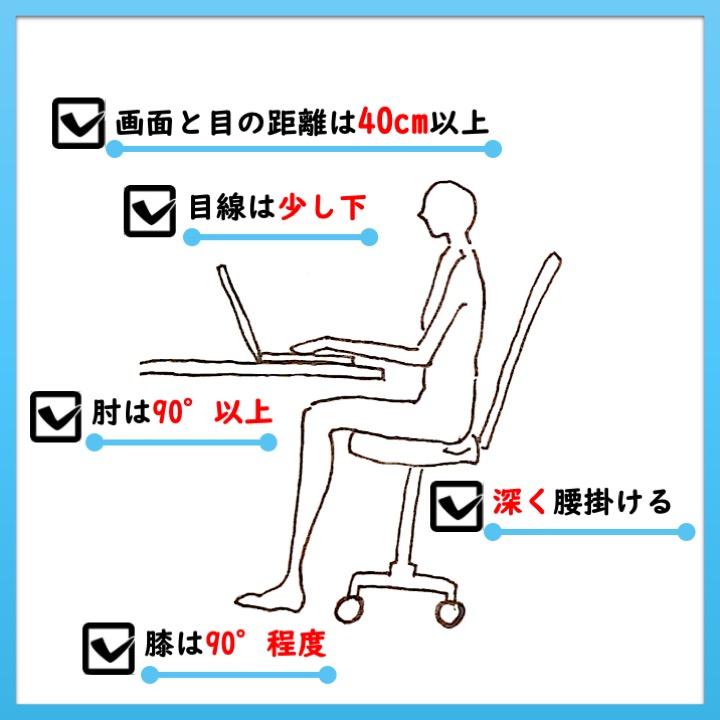 パソコンを使う姿勢