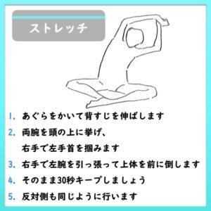 脊柱起立筋と広背筋のストレッチ